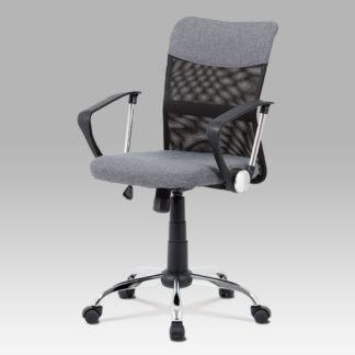 Kancelářská židle KA-V202 GREY, šedá látka