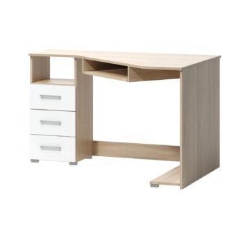 PC stůl ARTA 17, dub sonoma světlý/bílý mat