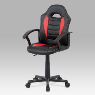 Dětská kancelářská židle KA-V107 RED, červená/černá