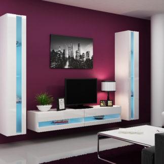 Obývací stěna VIGO NEW 3, bílá/bílý lesk