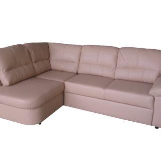 Kožená rohová sedačka AROSA, béžová, levá