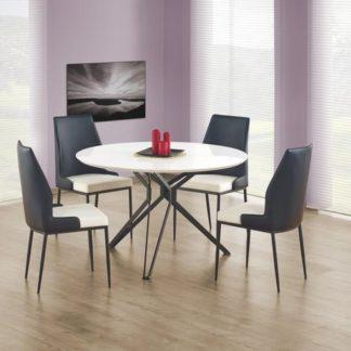 Kulatý jídelní stůl PIXEL, bílá/černá