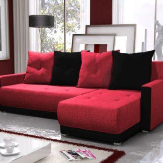 Rohová sedačka INSIGNIA BIS 2, červená/černá
