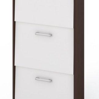 Botník 530R1, wenge/bílá