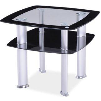 Konferenční stolek DARIA D, sklo/černá
