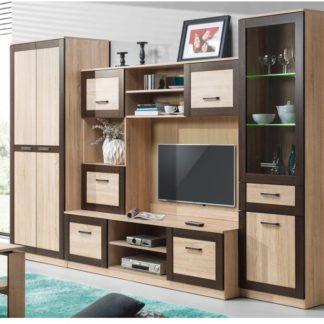BOSS obývací stěna - sestava 1, dub sonoma/dub čokoládový