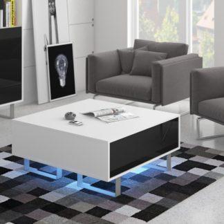 KING 8 konferenční stolek, bílá/černý lesk