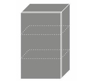 PLATINUM, skříňka horní W2 45, korpus: grey, barva: deep red