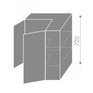 PLATINUM, skříňka horní rohová W12 60, korpus: grey, barva: black