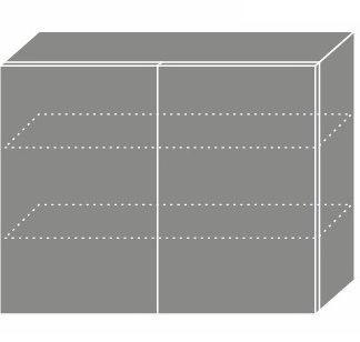 PLATINUM, skříňka horní W3 90, korpus: bílý, barva: black