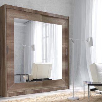 ALFA šatní skříň se zrcadlem 180 TYP 17, dub country