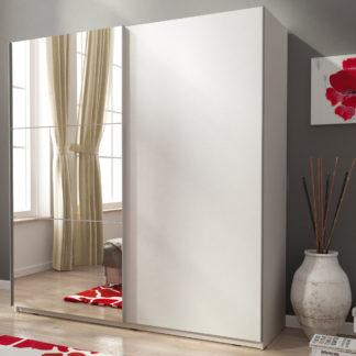 Skříň MIKA II se zrcadlem 150 cm, bílá