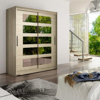 Šatní skříň WESTA V, dub sonoma/zrcadlo