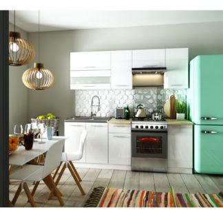 Kuchyně TIFFANY 160/220 cm, bílý lesk