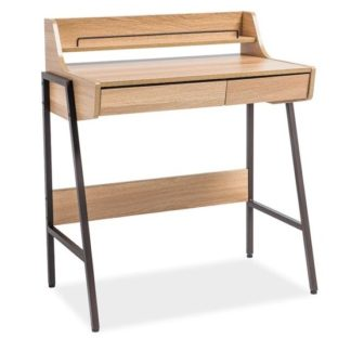 Pracovní stůl B-168, dub/hnědý kov