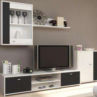 GENTA obývací stěna, bílá / černá