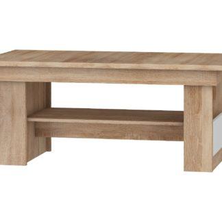 Konferenční stolek MAXIMUS 16, dub sonoma/bílý lesk