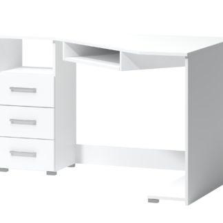 PC stůl ARTA 17, bílý mat