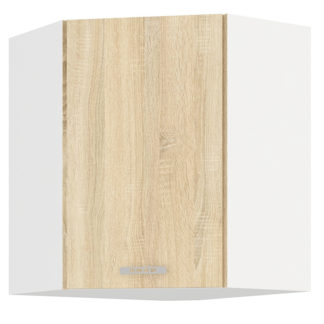 SARA SONOMA, skříňka horní rohová 59/59 cm, 60/60 NAR G-72, bílá/dub sonoma