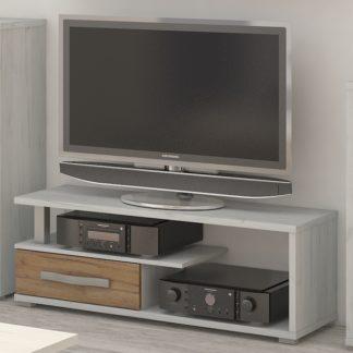 ANGEL TV stolek 1D, craft bílý/craft zlatý