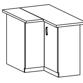 SYCYLIA, skříňka dolní rohová D90N pravá, borovice andersen