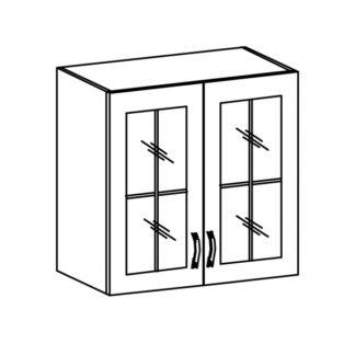 SYCYLIA, skříňka horní se sklem G80S, borovice andersen