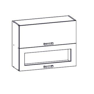 PLATE PLUS horní skříňka G2O 80/72, korpus congo, dvířka bílá perlová