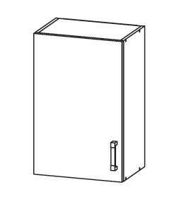 FIORE horní skříňka G50/72, korpus bílá alpská, dvířka bílá supermat