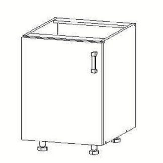 FIORE dolní skříňka D45, korpus wenge, dvířka bílá supermat