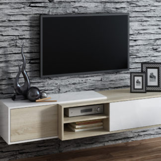 Televizní stolek RTV SIGMA 1D, dub sonoma/bílá