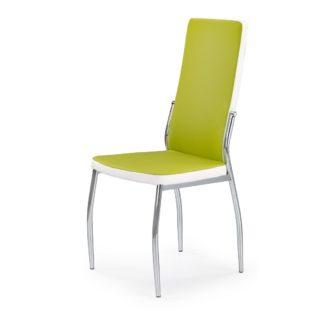 Židle K-210, zelená/bílá