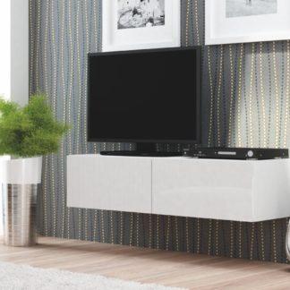 LIVO RTV-160W televizní stolek visící, bílá