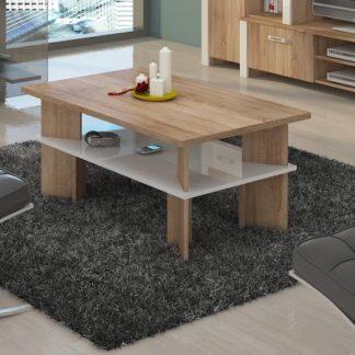 Konferenční stolek VECTRA 2, dub sonoma/bílý lesk