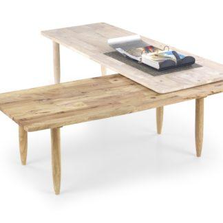 Konferenční stolek BORA-BORA, white wash/přírodní