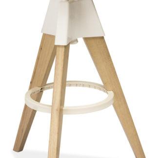 Barová židle BODO, bělený dub-bílá