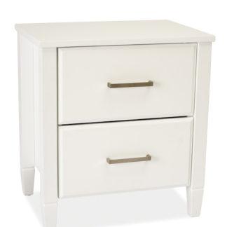 Noční stolek LIZBONA, bílá