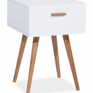 Skříňka MILAN S3, bílá/dub