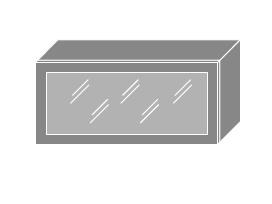 PLATINUM, skříňka horní prosklená W4bs 80 ALU, bílá