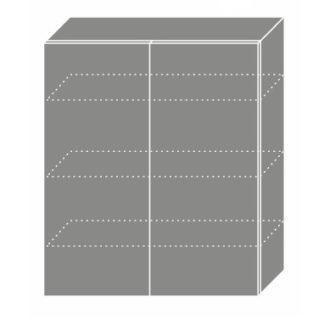 PLATINUM, skříňka horní W4 80, korpus: grey, barva: deep red