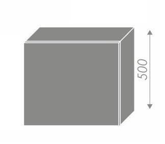 PLATINUM, skříňka horní na digestoř W8 60, korpus: lava, barva: black