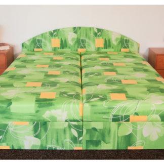 Čalouněná postel ÁJA 140x200 cm, zelená látka