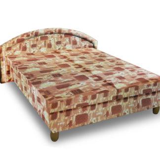 Čalouněná postel MAGDA 140x200 cm, hnědá látka