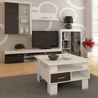 Konferenční stolek GAMMA, barva: bílá/černý lesk