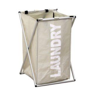 Látkový koš na prádlo LAUNDRY 1, šedo-béžový