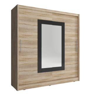 Skříň WIKI II se zrcadlem 180 cm, dub sonoma