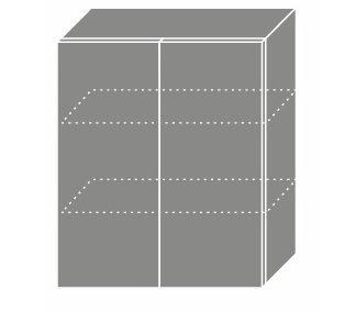 EMPORIUM, skříňka horní W3 60, korpus: grey, barva: light grey stone