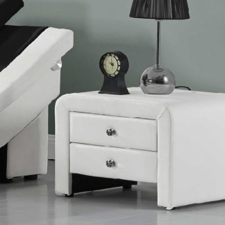 WILSON čalouněný noční stolek, bílá