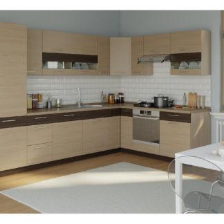 Rohová kuchyně MODENA 315x210, rijeka světlá