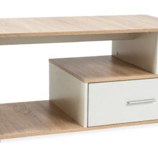 Konferenční stolek SIA, dub sonoma/bílá