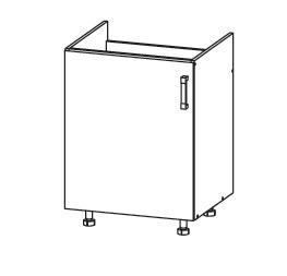 FIORE dolní skříňka DK60 pod dřez, korpus congo, dvířka bílá supermat